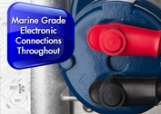 Marine grade electronic connections throughout