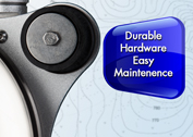 Durable hardware, easy maintenance