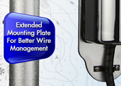 Extended mounting plate for better wire management