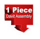 1-piece davit assembly
